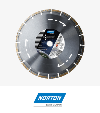 Norton 4x4 Explorer + Segmented Diamond Blade 350x3.2x12x25.4mm