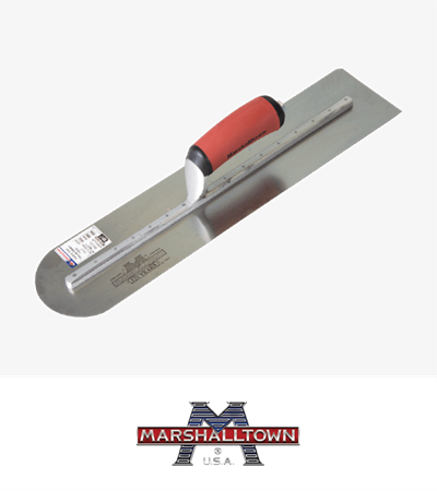 Marshalltown Concrete Trowel Round End 400mm x 100mm